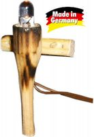 Krippenbeleuchtung - Holzfackel für Modellbau Krippen - natur h=4,5 cm – Bild 1
