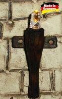 Krippenbeleuchtung - Holzfackel für Krippen Dekoration - nussbaumfarben h=4,5 cm – Bild 1