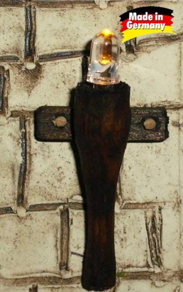 [Paket] Krippenbeleuchtung - Set 3-tlg. Holzfackeln für Krippen, nussbaumfarben h=4,5 cm