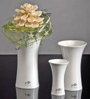 Porzellan X-Vase weiss
