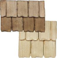 30 Stück XL Dachschindel handgeschlagen 5,8x3,6x0,4cm - Krippen