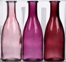 Set 3-tlg Glasvase Bottle – Bild 3