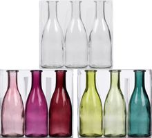 Set 3-tlg Glasvase Bottle – Bild 1