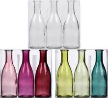 Set 3-tlg Glasvase Bottle
