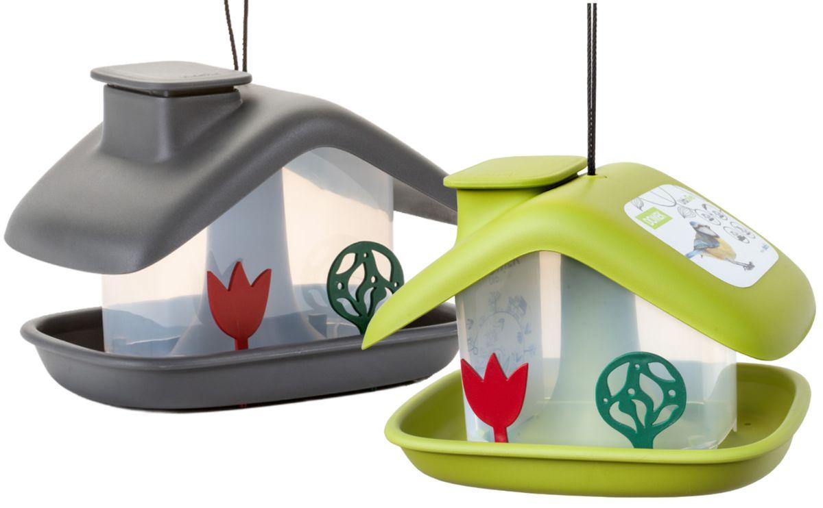 Vogelfutterhaus Domek mit integriertem Futtersilo