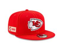 New Era NFL KANSAS CITY CHIEFS Authentic 2019 Sideline 9FIFTY Snapback Road Game Cap