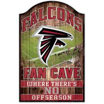 WinCraft NFL ATLANTA FALCONS Fan Cave Sign Holzschild