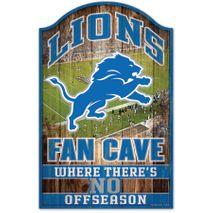 WinCraft NFL DETROIT LIONS Fan Cave Sign Holzschild