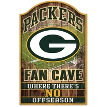 WinCraft NFL GREEN BAY PACKERS Fan Cave Sign Holzschild