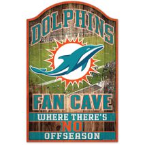 WinCraft NFL MIAMI DOLPHINS Fan Cave Sign Holzschild