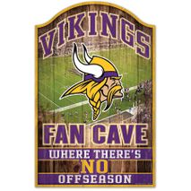 WinCraft NFL MINNESOTA VIKINGS Fan Cave Sign Holzschild
