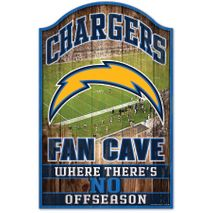 WinCraft NFL LOS ANGELES CHARGERS Fan Cave Sign Holzschild