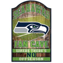 WinCraft NFL SEATTLE SEAHAWKS Fan Cave Sign Holzschild