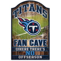 WinCraft NFL TENNESSEE TITANS Fan Cave Sign Holzschild