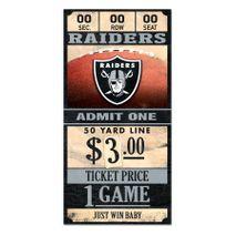 WinCraft NFL OAKLAND RAIDERS Ticket Sign Holzschild