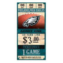 WinCraft NFL PHILADELPHIA EAGLES Ticket Sign Holzschild