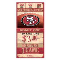 WinCraft NFL SAN FRANCISCO 49ERS Ticket Sign Holzschild