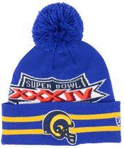 New Era NFL ST. LOUIS RAMS Super Wide Point SB XXXIV (Wintermütze) Knit