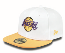 New Era NBA LOS ANGELES LAKERS White Top 59FIFTY Cap