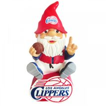 Forever Collectibles NBA LOS ANGELES CLIPPERS Gnome Sitting on a Logo