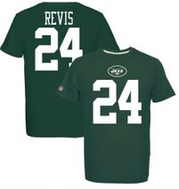 Majestic NFL DARRELLE REVIS #24 - New York Jets Player T-Shirt