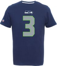 Majestic NFL RUSSELL WILSON #3 - SEATTLE SEAHAWKS Player T-Shirt