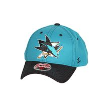 Zephyr NHL SAN JOSE SHARKS Staple Curved Snapback Cap
