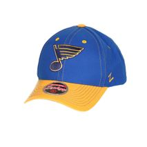 Zephyr NHL ST. LOUIS BLUES Staple Curved Snapback Cap