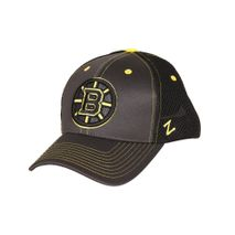 Zephyr NHL BOSTON BRUINS Blacklight Curved Snapback Cap