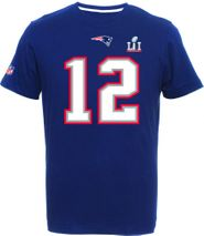 Majestic NFL TOM BRADY #12 - New England Patriots Super Bowl 51 Player T-Shirt