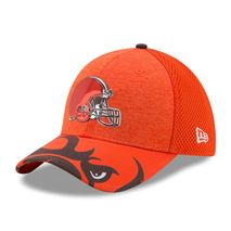 New Era NFL CLEVELAND BROWNS Authentic 39THIRTY Draft 2017 Stretch Fit Cap