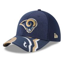 New Era NFL LOS ANGELES RAMS Authentic 39THIRTY Draft 2017 Stretch Fit Cap
