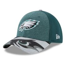 New Era NFL PHILADELPHIA EAGLES Authentic 39THIRTY Draft 2017 Stretch Fit Cap