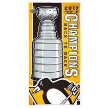 WinCraft NHL PITTSBURGH PENGUINS Stanley Cup 2017 Champions Spectra Strandtuch