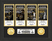 Highland Mint NHL PITTSBURGH PENGUINS Stanley Cup 2017 Ticket Collection inkl. Bronzemünzen