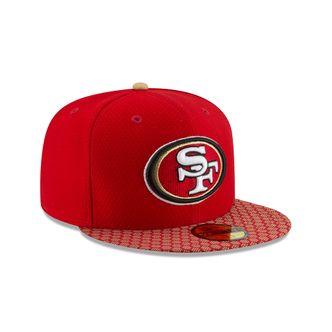 New Era NFL SAN FRANCISCO 49ERS Authentic 2017 Sideline 59FIFTY Game Cap – Bild 3