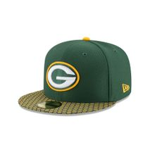 New Era NFL GREEN BAY PACKERS Authentic 2017 Sideline 59FIFTY Game Cap