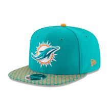 New Era NFL MIAMI DOLPHINS Authentic 2017 Sideline 9FIFTY Snapback Game Cap