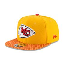 New Era NFL KANSAS CITY CHIEFS Authentic 2017 Sideline 9FIFTY Snapback Game Cap
