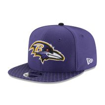 New Era NFL BALTIMORE RAVENS Authentic 2017 Sideline 9FIFTY Snapback Game Cap