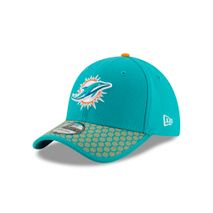 New Era NFL MIAMI DOLPHINS Authentic 2017 Sideline 39THIRTY Stretch Fit Game Cap