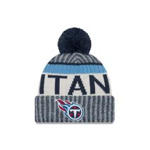 New Era NFL TENNESSEE TITANS Authentic 2017 Sideline Bobble Knit (Wintermütze)