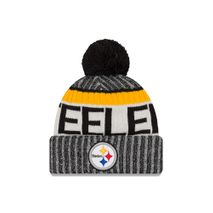 New Era NFL PITTSBURGH STEELERS Authentic 2017 Sideline Bobble Knit (Wintermütze)