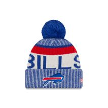New Era NFL BUFFALO BILLS Authentic 2017 Sideline Bobble Knit (Wintermütze)