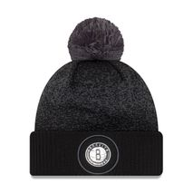 New Era NBA BROOKLYN NETS On-Court 2017 Bobble Knit (Wintermütze)