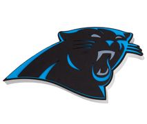 Foam Fanatics NFL CAROLINA PANTHERS 3D Foam Wandlogo