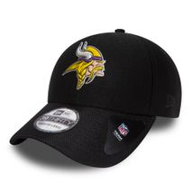 New Era NFL MINNESOTA VIKINGS Black Collection 39THIRTY Stretch Fit Cap