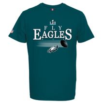 Majestic NFL PHILADELPHIA EAGLES Super Bowl LII 2018 Champions Fly Eagles Fly Old School T-Shirt