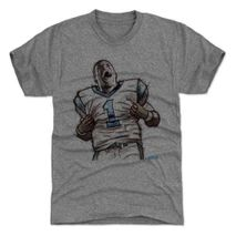 500 Level NFL CAROLINA PANTHERS - Cam Newton Sketch L Premium T-Shirt