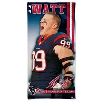 WinCraft NFL J.J. WATT - Houston Texans Player Strandtuch 75cm x 150cm